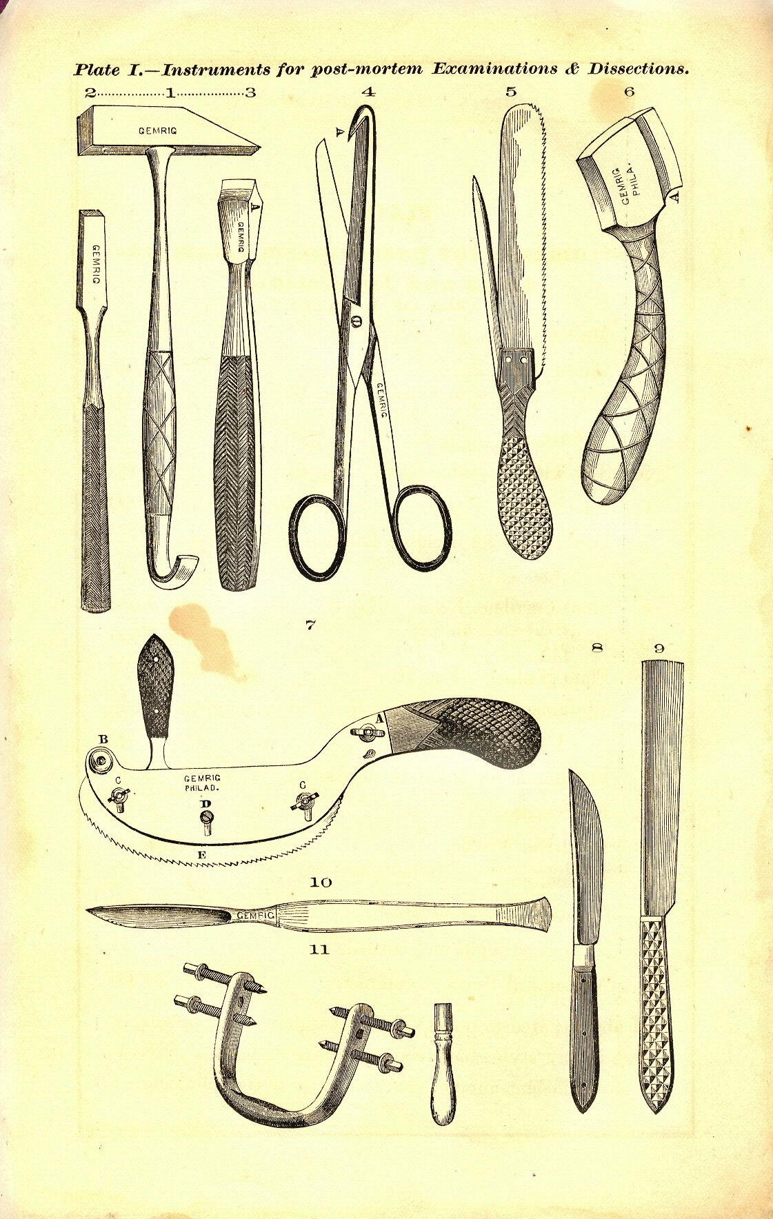 Gemrig Post Mortem Instruments