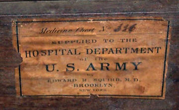 list of drugs carried in a civil war medical wagon