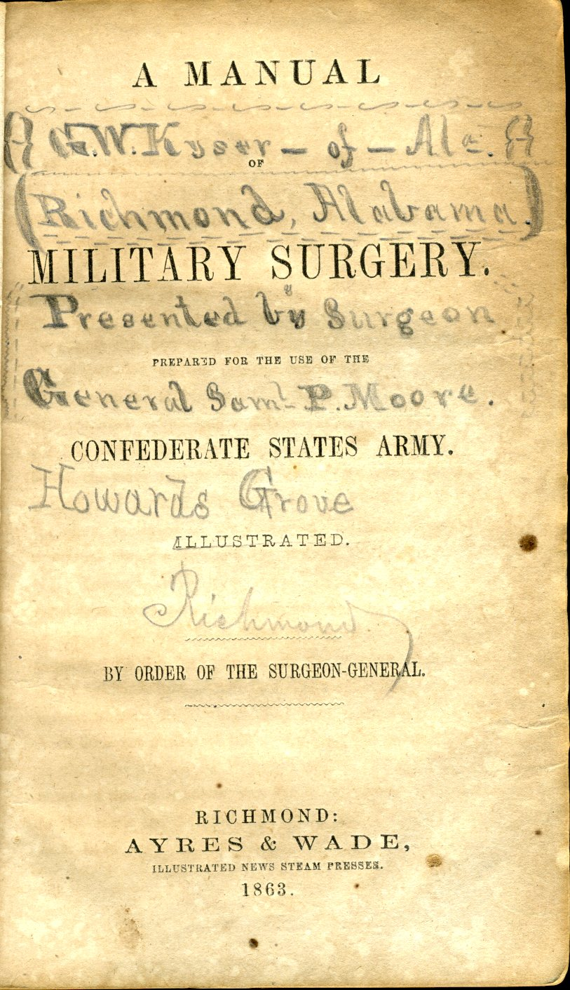 civil war confederate medical books surgical manuals page 6 rh medicalantiques com Land Navigation Field Manual Multi Cam Field Manual